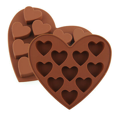 DIY Heart Shape Silicone Cake Cookie Chocolate Soap Mold Mould Jelly Tray Maker