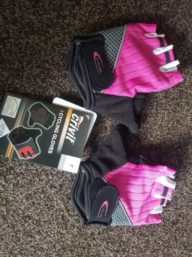 cycling gloves fingerless pink size 7