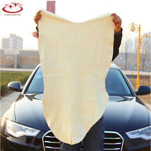 1Pc-Natural-Chamois-Leather-Car-Cleaning-Cloth-Washing-Suede-Absorbent-Towel-Hot