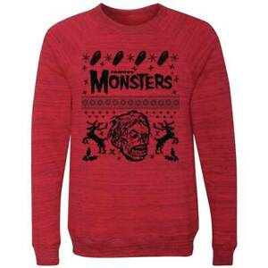 FAMOUS-MONSTERS-OF-FILMLAND-UGLY-RED-SWEATER-SIZE-XXL-NEW