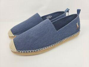 Size Polo Blue 5 Lauren Espadrille Details Barron Flats 11 Ralph Shoes About Men's On Slip BdxeWrCo