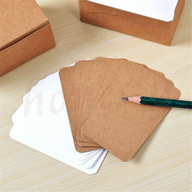 100Pcs Blank Trading Business Wood Cards Label Tag Name Card 90 x 53mm DIY/_ch