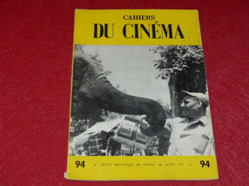 MAGAZINE THE SPECIFICATIONS OF THE CINEMA NO.94 # APRIL 1959 ROSSELLINI
