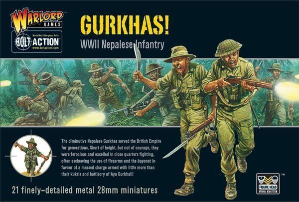 Warlord Games British Gurkhas 28mm United Kingdom Napalese Infantry Bolt Action