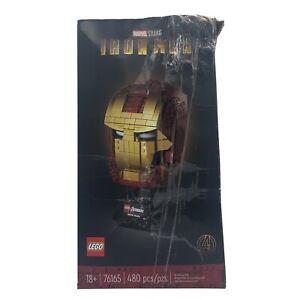 NEW UNOPENED LEGO Marvel Studios Iron Man Helmet (76165) **BOX DENTED**