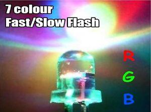 3-5-10mm-Ultra-Bright-3V-Clear-RGB-LED-Bulbs-7-Colour-Flash-Flashing