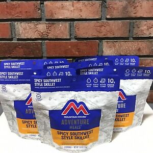 6 Mountain House Freeze Dried Food Pouch Spicy Southwest Style Skillet New