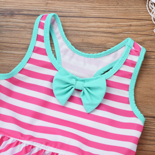 Toddler Kids Girls Swimwear Swimsuit Tankini Set Bathing Suit Swimming Beachwear