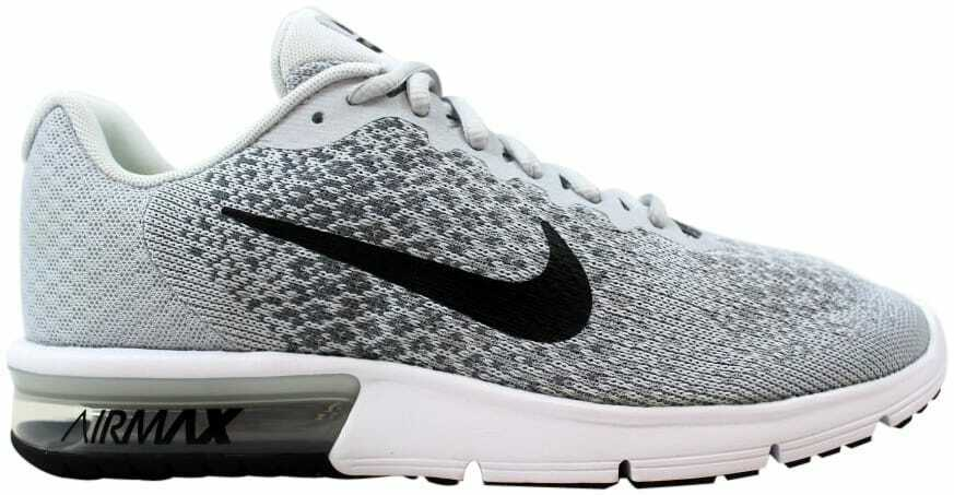 4dd6eb85a5e Nike Air Max Sequent 2 Mens 852461-002 Platinum Grey Knit Running Shoes  Size 7 for sale online