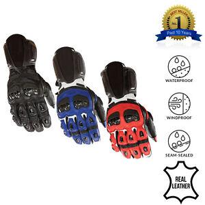 Leather-Motorcycle-Gloves-Motorbike-Waterproof-Windproof-Winter-Thermal-Biker