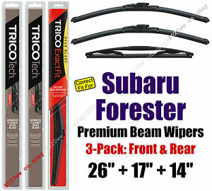 Wipers 3 Pack Premium Front Special Rear 2014 2016 Subaru
