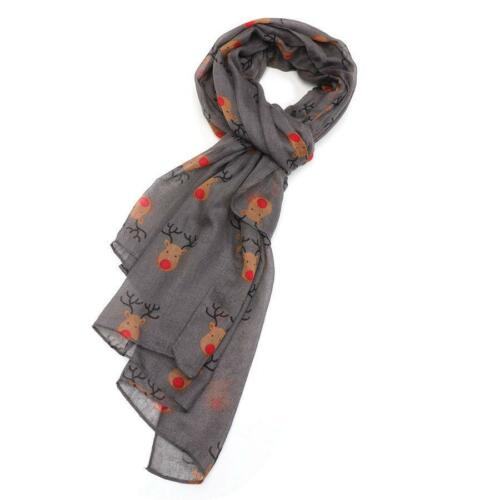 Rudolph Red Nose Reindeer Christmas Print  Scarf Wrap in Choice Gorgeous colours