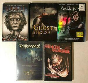 Lot-5-Horror-Ghost-DVD-Movies-Ghost-of-Goodnight-Lane-House-Awakening-Innkeeper