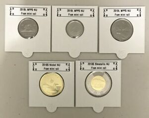 UNC directly From mint roll CANADA 2018 New Complete circulation set