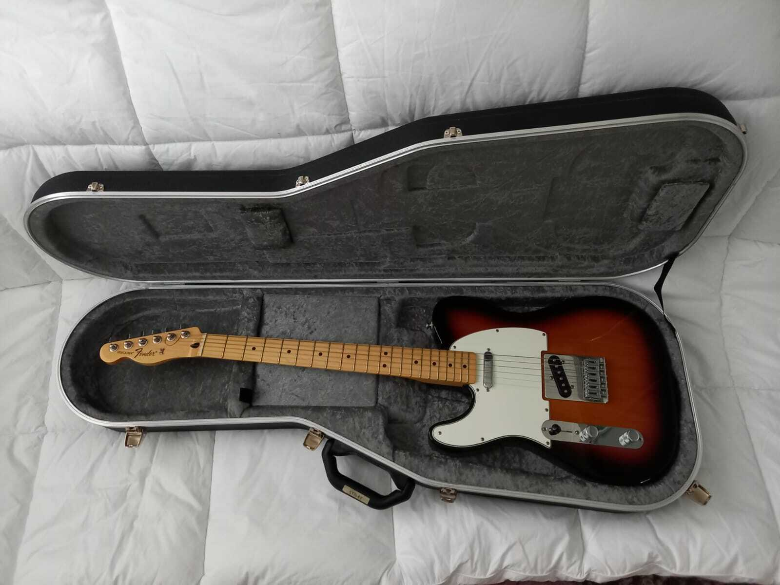 This pre-owned left handed Fender Telecaster guitar is for sale - Fender Mexican Telecaster Left Handed Guitar