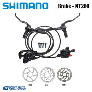 Shimano-BL-BR-MT200-Hydraulic-Disc-Brake-Set-MTB-Bicycle-Front-Rear-HS1-G3-RT56