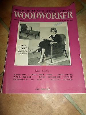 Enthousiast Woodworker April 1959 ~ Retro Vintage Illustrated Magazine + Advertising
