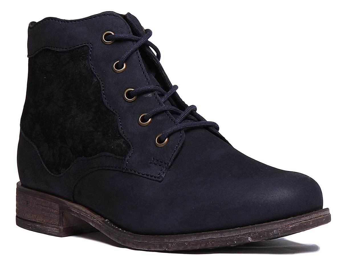 Josef Seibel Sienna 79 Women Leather Ocean Ankle Boots UK Size 3 - 8