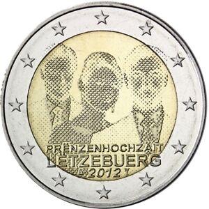 🇱🇺 2 EUROS commémorative Mariage princier - LUXEMBOURG 2012 (UNC - Neuve)