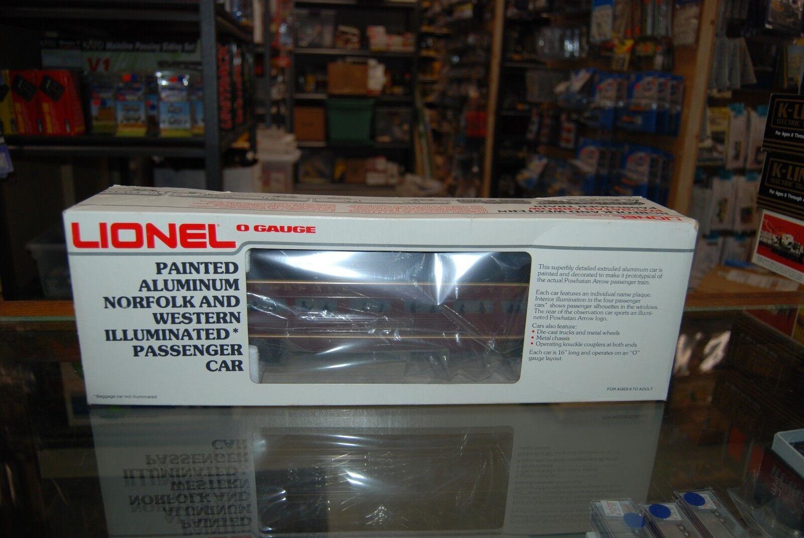 Lot 7-246  0 Lionel 6-9566 Aluminum Norfolk Norfolk Norfolk & Western Observation car  w Box d3116f