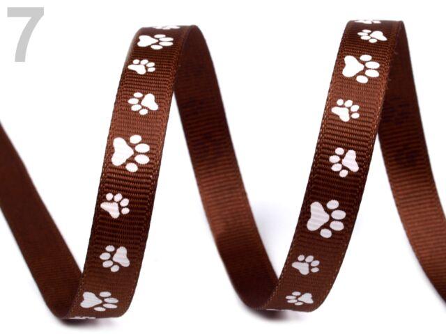 3m Ripsband Zierband Borte Tatzen Pfoten Pfotenabdrücke Haustier Hund alleFarben