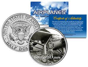 SPIRIT-OF-ST-LOUIS-Airplane-Series-JFK-Kennedy-Half-Dollar-US-Coin