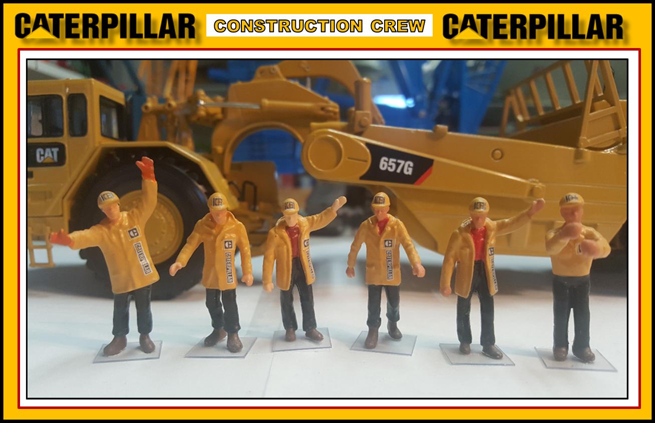 1 50 CATERPILLAR GEN II Figures (6) - NEW Construction  Crew Set
