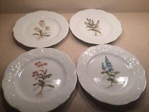 Image is loading Set-of-4-Dansk-Flor-Luncheon-Plates-France & Set of 4 Dansk Flor Luncheon Plates France | eBay
