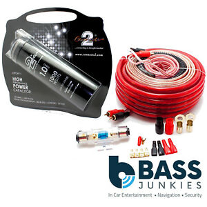 2000 Watt Car Amp Wiring Kit 1 Farad Power Cap Capacitor Kit Ebay