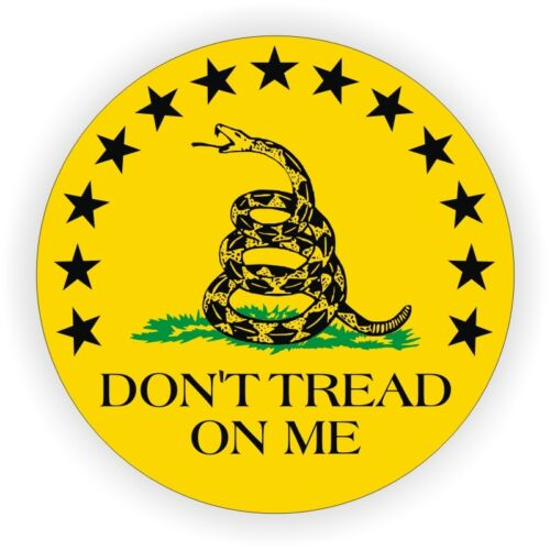 Gadsden Flag Dont Tread On Me Round Hard Hat Sticker \ Decal Label USMC Marines