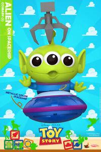Hot-Toys-Cosbaby-034-Toy-Story-034-Talla-S-Alien-SOBRE-NAVE-ESPACIAL-Metalico-Ver