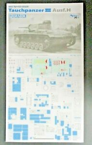 Dragon Models Pz.Kpfw.III 1//35 Scale Ausf.H Model Kit T