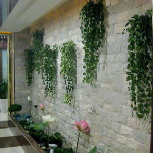 9-75ft-Plant-Garland-Ivy-Decor-Plastic-Hot-Green-Home-Foliage-Flower-Leaf-TOP