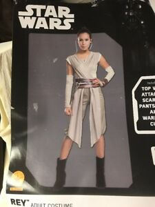 2cc44b36a033c Details about Lady Deluxe Rey Disney Star Wars Vii 7 Force Awakens Costume  Adult Medium 10 12