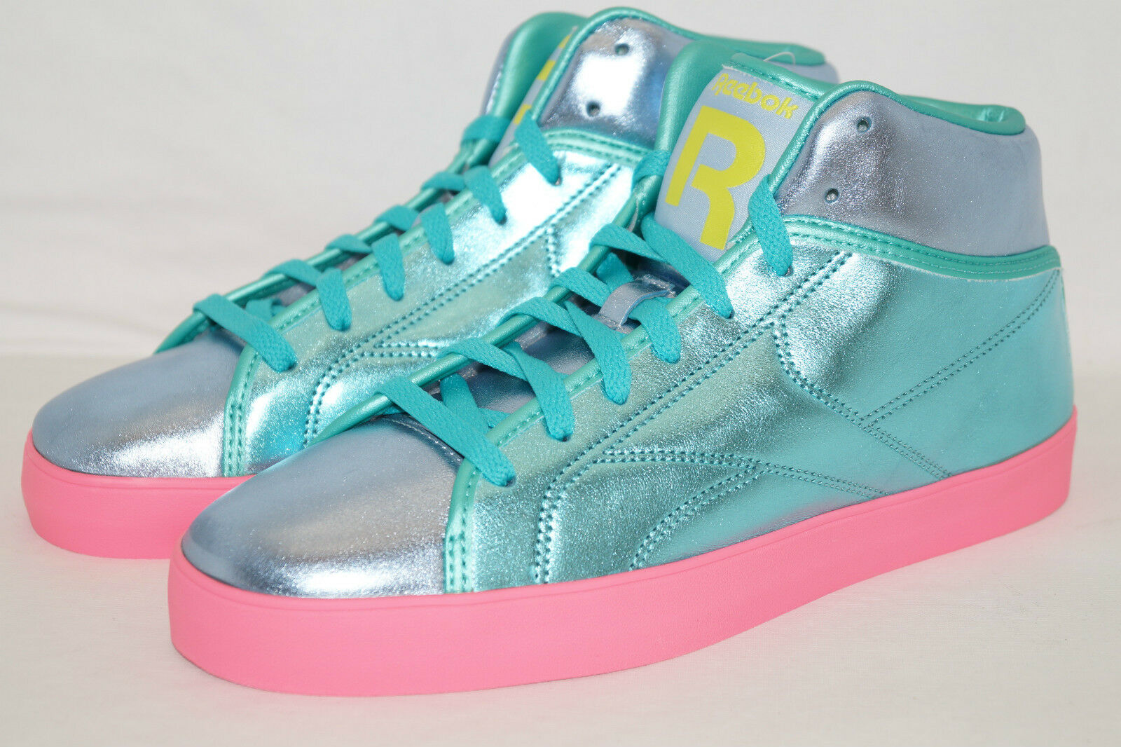 REEBOK T-RAWW WMNS Sneakers Gr.37,5 UK 5 Emerald/solar green pink Metal look