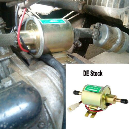 Universal Benzinpumpe Vorförderpumpe 12V Benzin Diesel Kraftstoffpumpe KFZ Boot