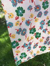 vintage feed bag floral fabric