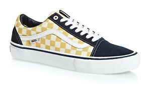 Details about VANS OTW OLD SKOOL PRO (CHECKERBOARD) SKATE SHOES NAVY GOLD  MENS SZ 9.5 NEW 2eac160ae