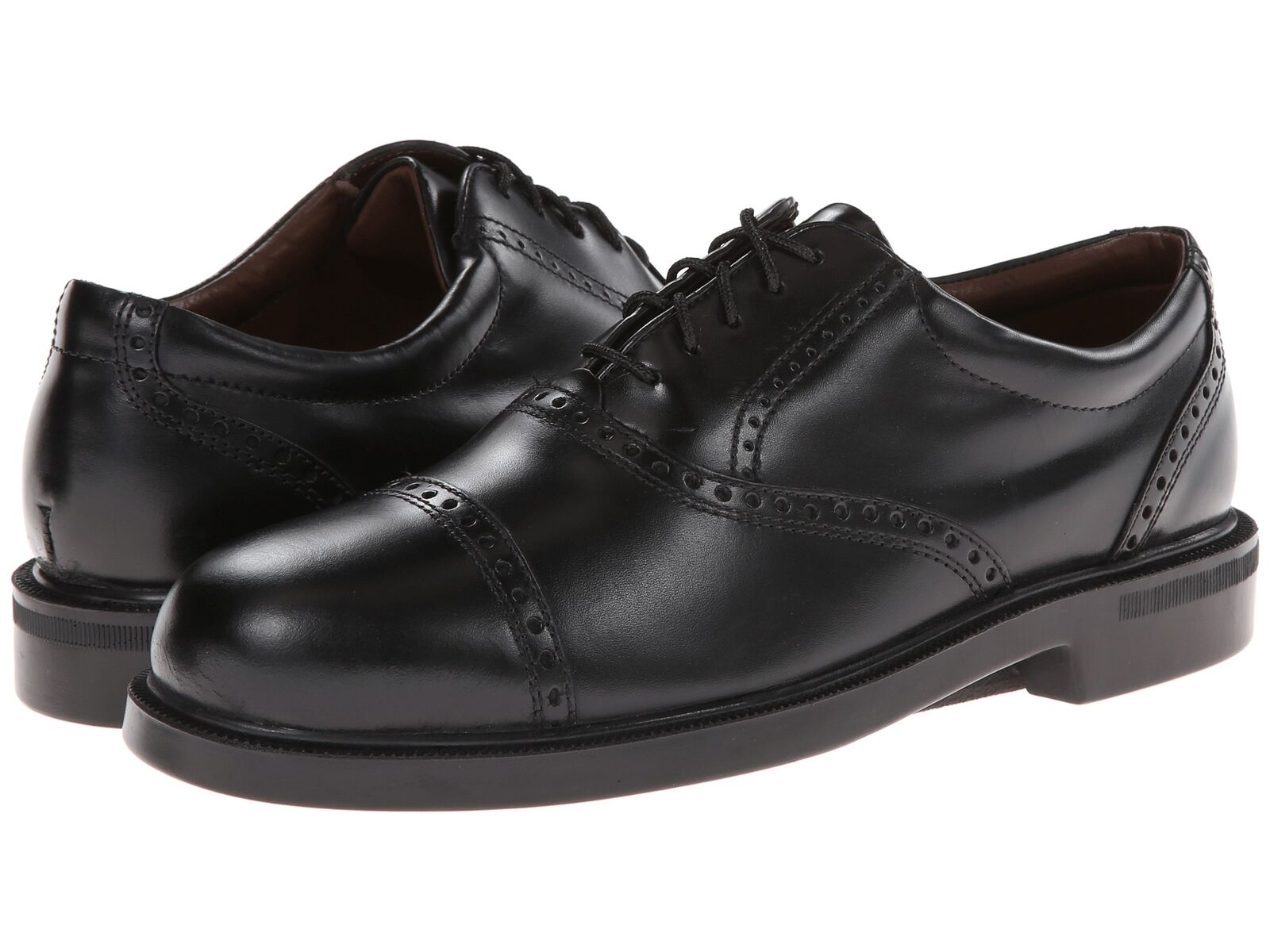 Florsheim Men's Noval Black leather cap toe shoes 17069-01