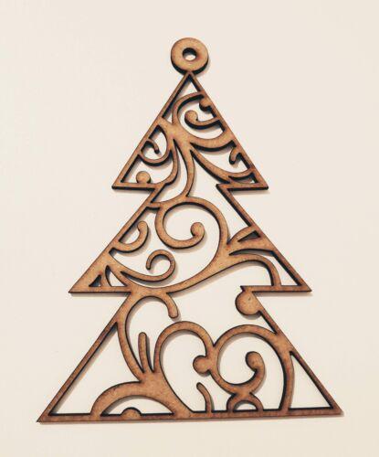 Christmas Bauble XMAS TREE Hanging Holes Blank Shape Tag XMAS DECORATION E358