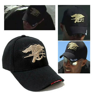 Black Outdoor Military Hunting Embroidered US Navy Seal Baseball Cap Sunhat