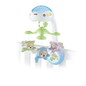 Fisher Price BUTTERFLY 3 IN 1 PROJECTOR MOBILE Starry Night Light Baby Cot 0m+