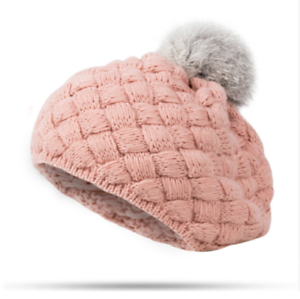 9954d6f255c Baby Beret Winter Hat Warm Cotton Cap For Children Head Accessories ...