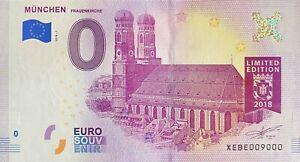 BILLET 0  EURO MUNCHEN FRAUENKIRCHE ALLEMAGNE   2018 NUMERO 9000
