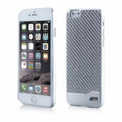 reputable site c9a7f 6fa96 Genuine BMW M BMHCP6MDCS Carbon Fiber Case Cover for iPhone 6 6s Silver  Metallic