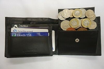 Back Zip Soft Leather Trifold  Wallet With Coin Pocket Business Card SpaceRFID