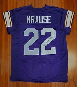 Details about Paul Krause Autographed Signed Jersey Minnesota Vikings JSA