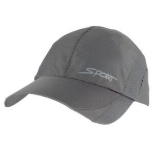 Lightweight-Dry-Quick-Running-Cap-Tennis-Sport-Performance-Hat-Adjustable-Gray