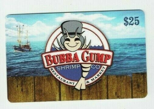BUBBA GUMP Gift Card Shrimp Co Restaurant & Market - No Value - I Combine Ship