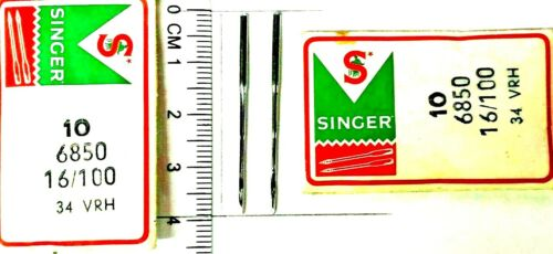 6850 34 Vrh Tamaño 16//100 aguja de máquina de coser industrial Cantante del sistema
